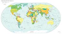 Carte du monde politique situation aout 2013