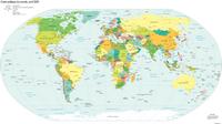 Carte du monde politique situation avril 2005