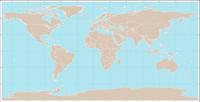 Fond de carte du monde avec les frontières