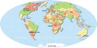 Grande carte du monde simple