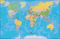 Carte du monde avec le nom des pays et les capitales