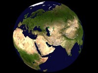 Carte du monde satellite en 3D