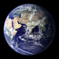 Photo satellite du monde hémisphère est