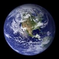 Photo satellite du monde hémisphère ouest