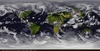 Photo satellite du monde