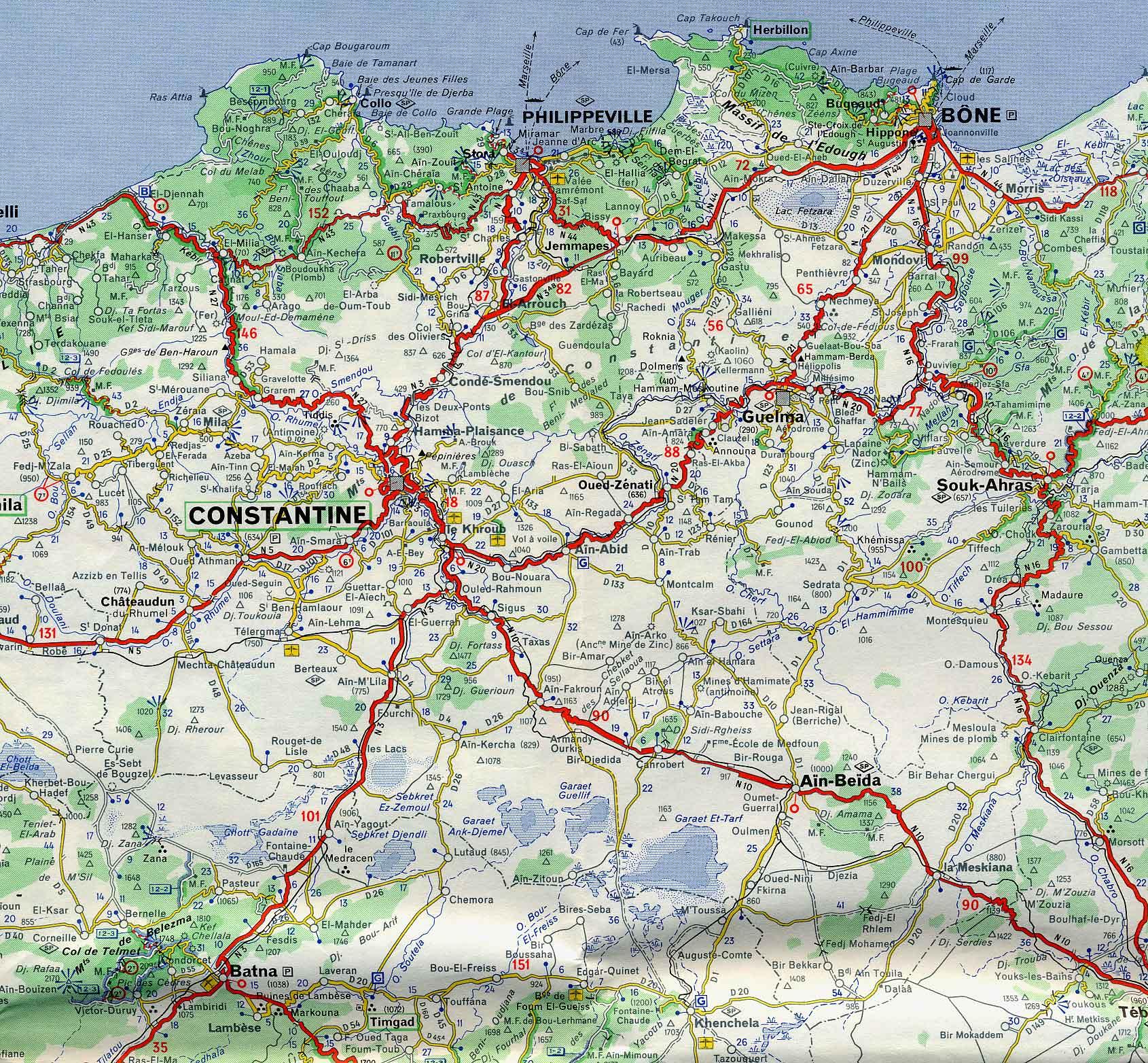 carte de l algerie detaillé grand format Cartograf.fr : Toutes les cartes de l'Algérie