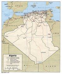 Carte politique de l'Algérie dans les années 1979