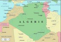 Carte des rivières de l'Algérie