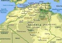 Carte des villes et de la végétation de l'Algérie