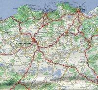 Grande carte routière de l'Algérie