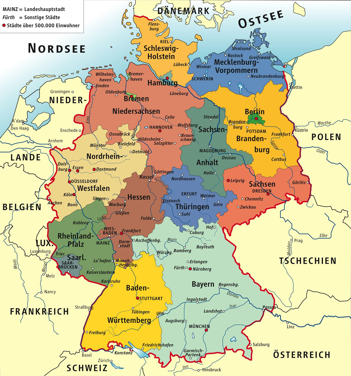 Cartograf Fr Carte De L Allemagne
