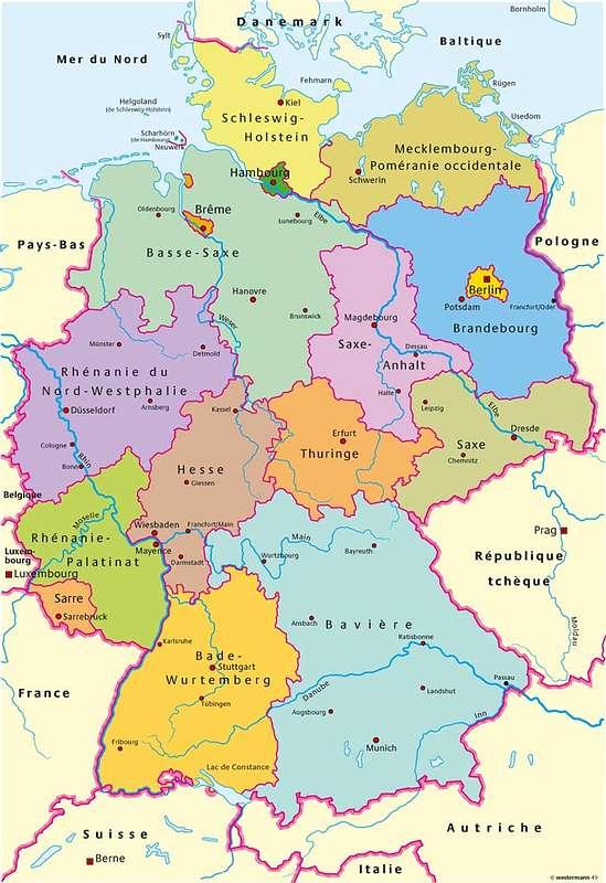 Carte Allemagne Avec Lander.Cartograf Fr Carte De L Allemagne