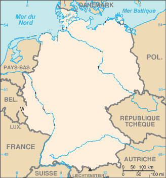 Carte Allemagne Vierge Villes.Cartograf Fr Carte De L Allemagne