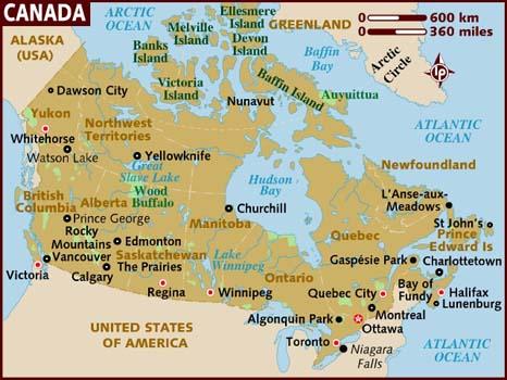 Carte Du Canada Avec Les Villes.Cartograf Fr Toutes Les Cartes Du Canada Page 2