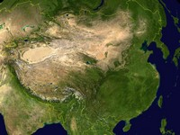 Carte satellite de la Chine