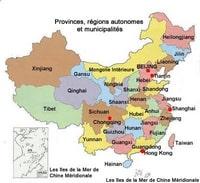 Carte des régions de la Chine