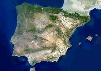 Photo satellite de l'Espagne