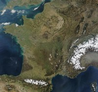 Carte satellite de la France