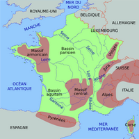 Carte de France simplifiée