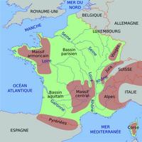 Carte de France simplifiée