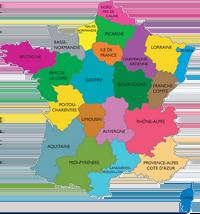Carte des régions Française