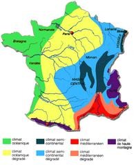 Carte du climat de la France
