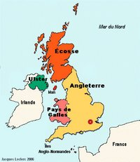 Carte du Royaume-Uni