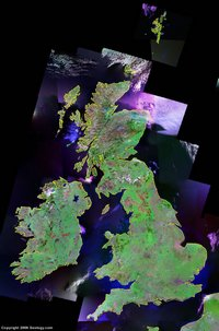 Photo satellite du Royaume-Uni