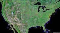 Carte satellite des Etats-Unis