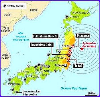 Cartograf.fr : Japon Fukushima