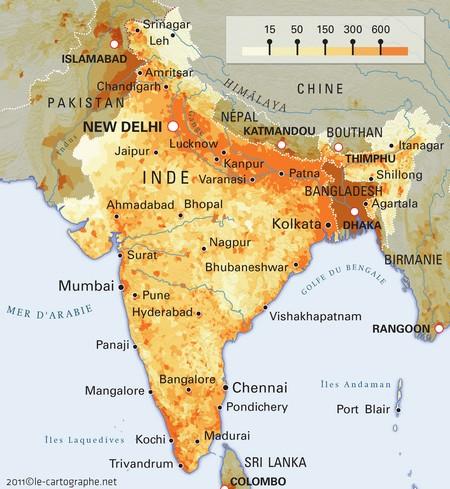 Carte Inde Relief.Cartograf Fr L Inde
