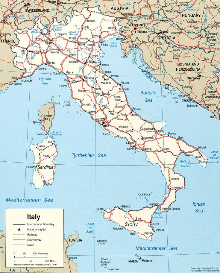 carte routiere italie - Photo