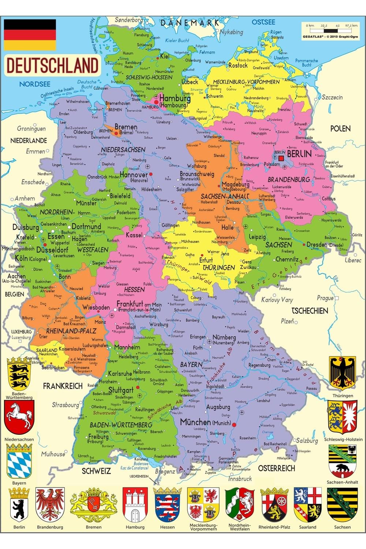 Carte Allemagne Avec Lander.Cartograf Fr L Allemagne Page 2