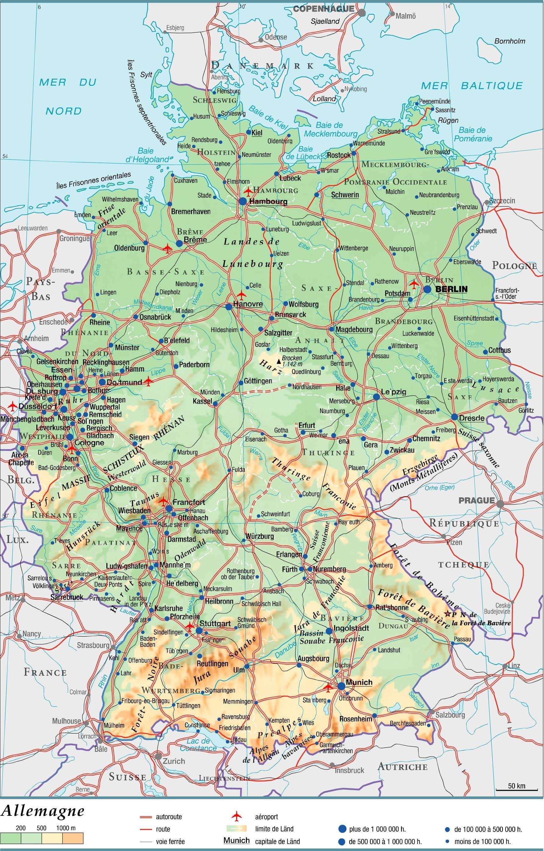Carte Allemagne Geographique.Cartograf Fr L Allemagne Page 2