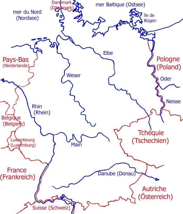 Carte Allemagne Vierge Villes.Cartograf Fr L Allemagne Page 2