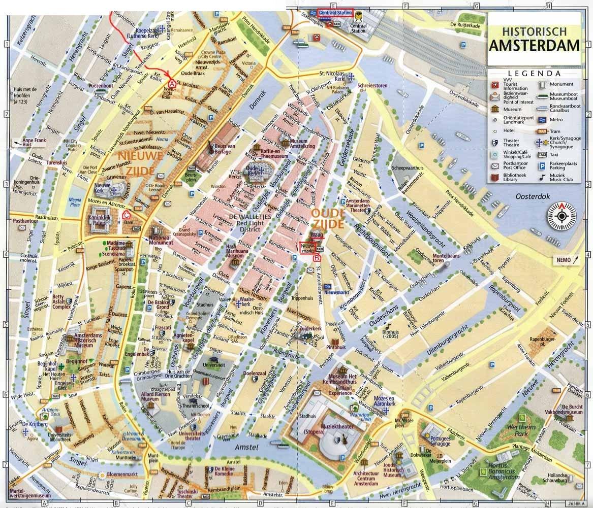 Amsterdam for Carte touristique de paris