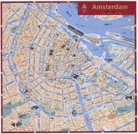 Grande carte d'Amsterdam avec les monuments importants