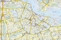 Carte détaillée d'Amsterdam avec le nom des rues