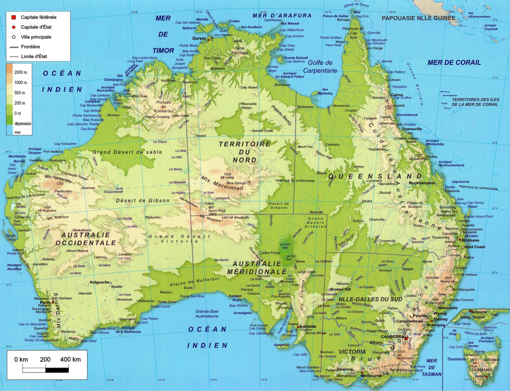 Carte Altitude Canada.Cartograf Fr L Australie