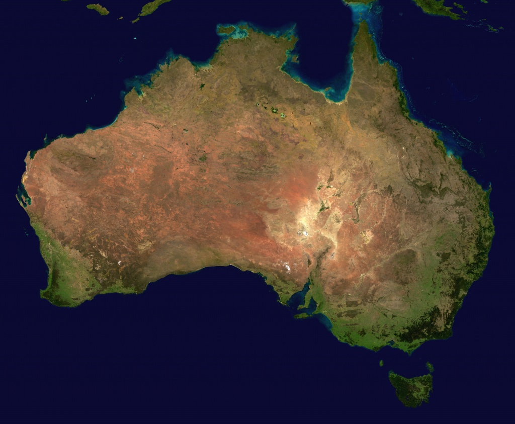 Photo satellite de l'Australie.