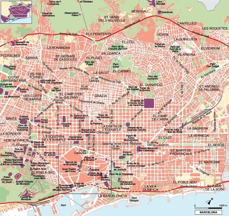 Carte Barcelone Pdf.Cartograf Fr Les Cartes De Barcelone