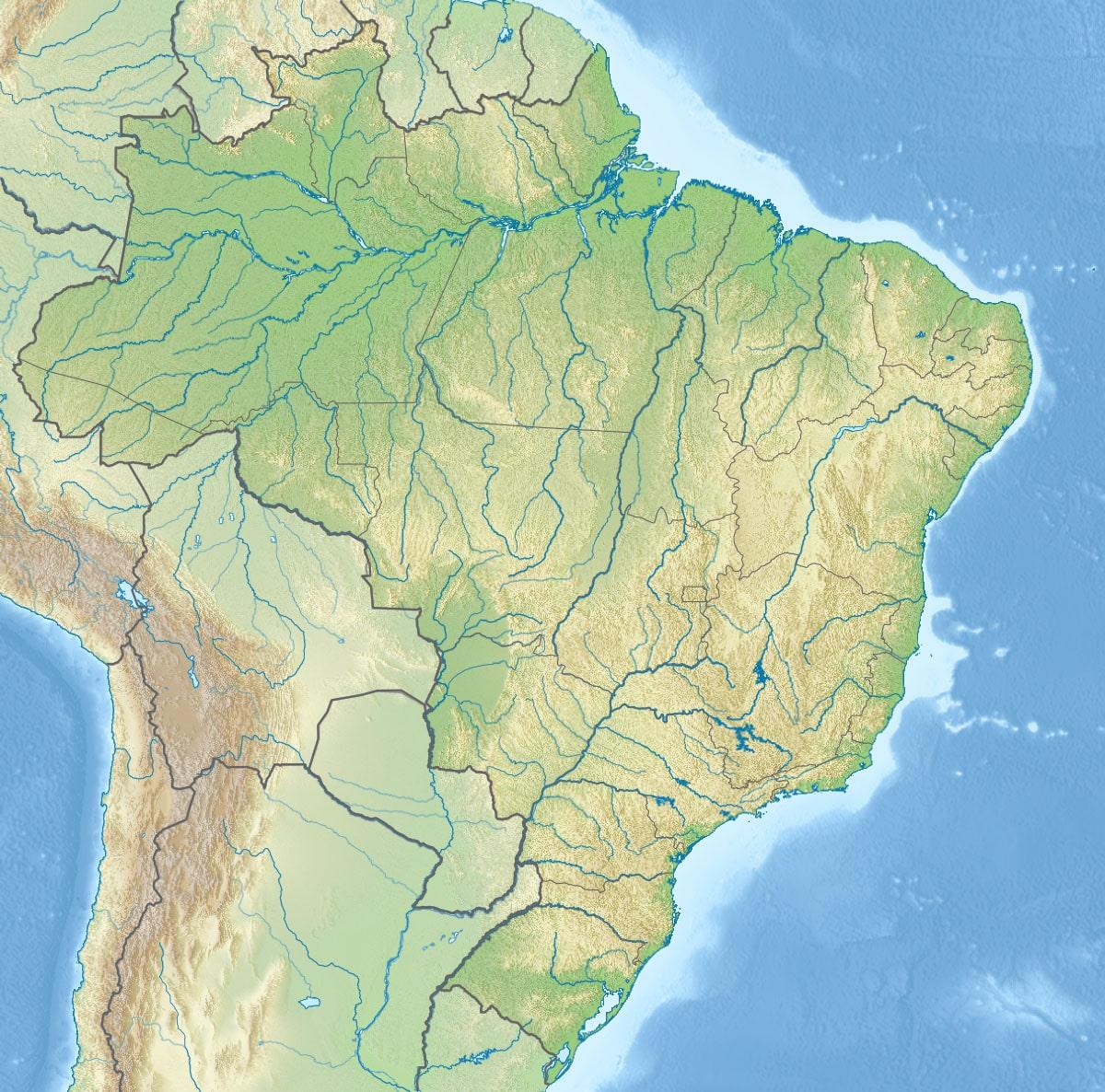 Carte Bresil Relief.Cartograf Fr Cartes Des Pays Le Bresil