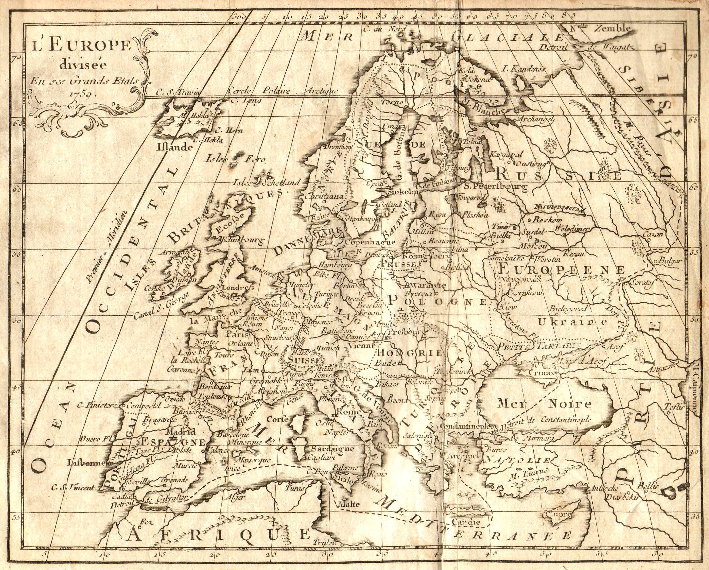 carte de geographie ancienne - Image