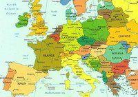 Carte des villes d'Europe
