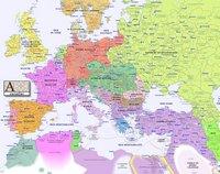 Carte de l'Europe dans les années 1900.
