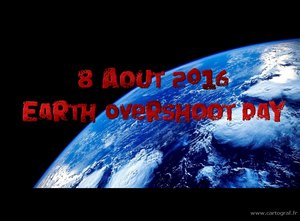 Le 8 aout 2016 Earth Overshoot Day