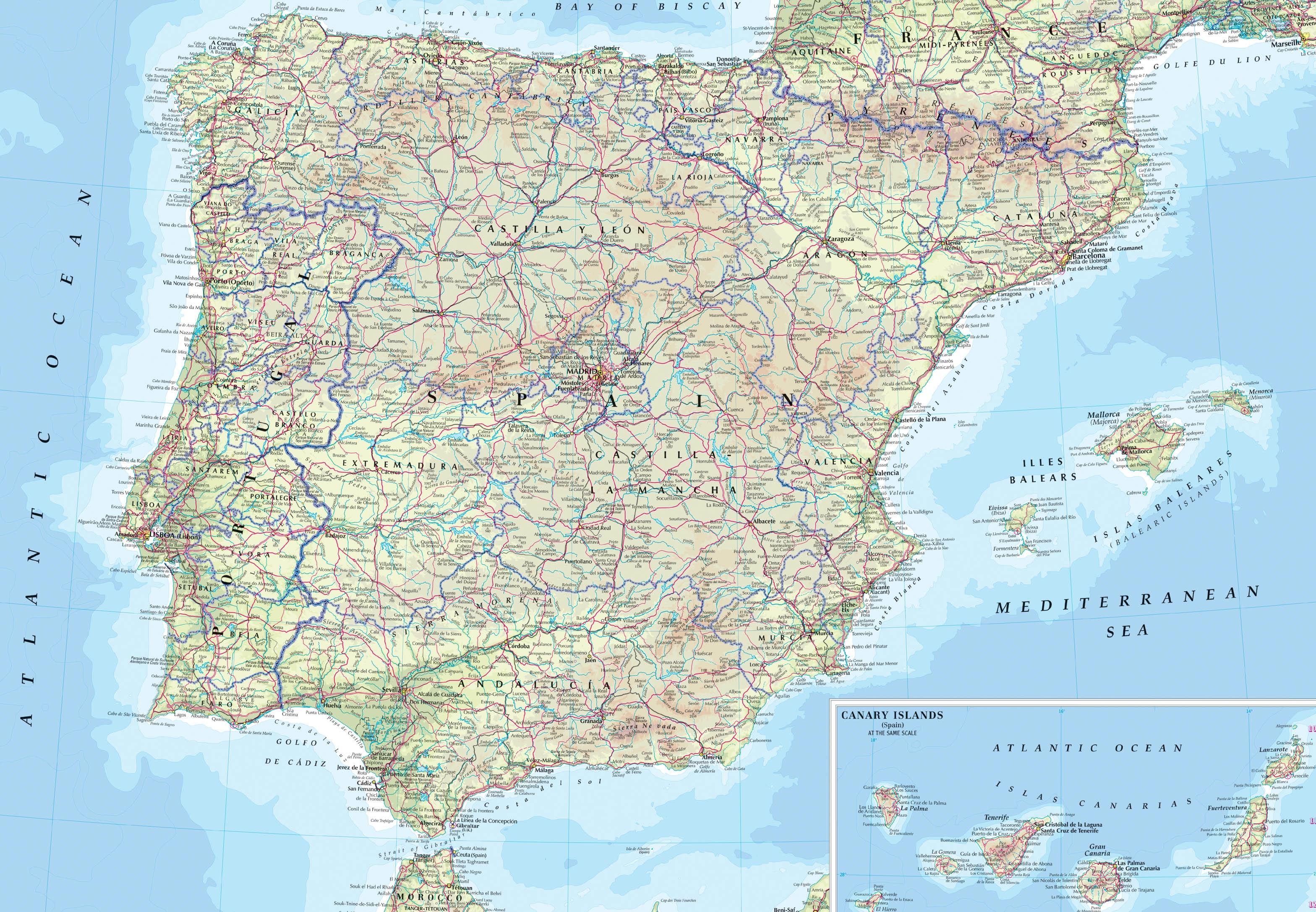 Carte Des Routes Espagne | tonaartsenfotografie