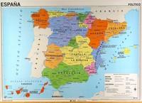 Carte de l'Espagne avec les régions politiques en espagnol