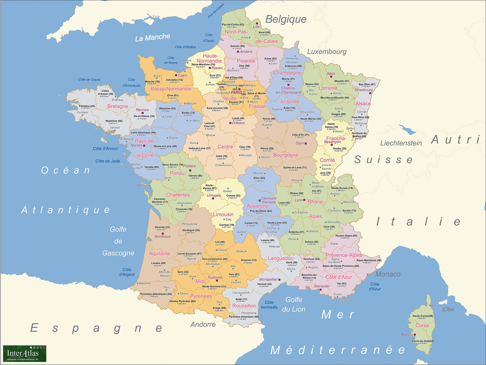 france-carte - Photos