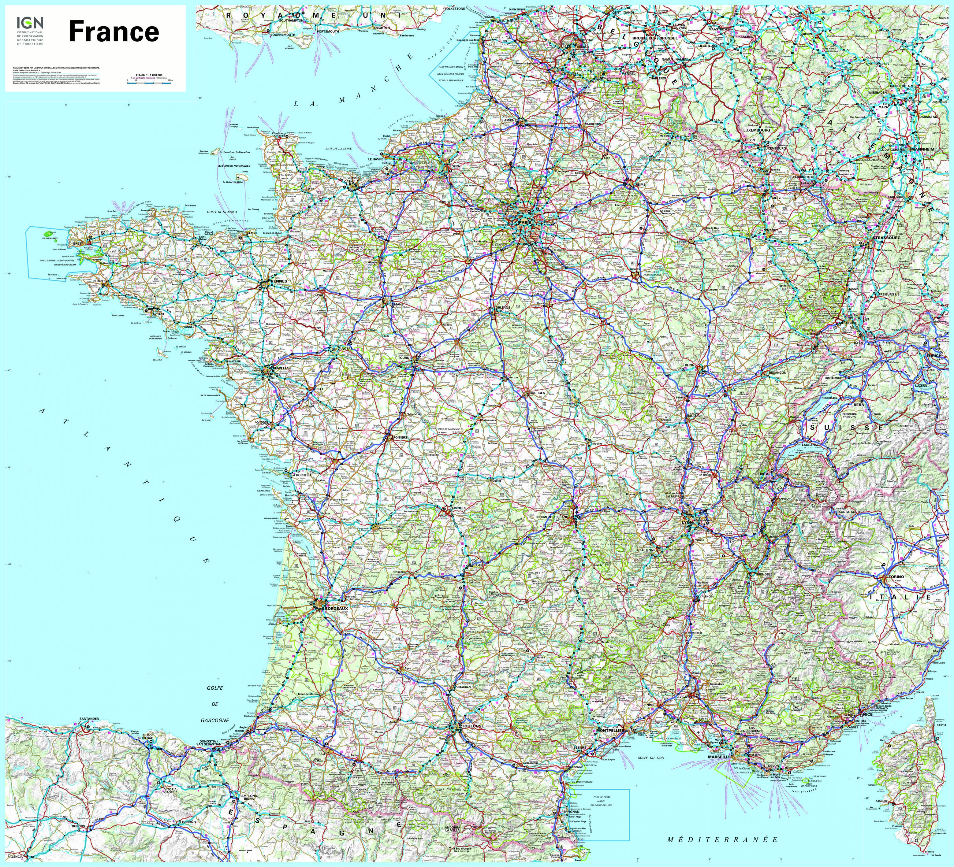 carte-france-routiere